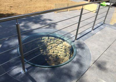 Dalle verre clair sur puits 1